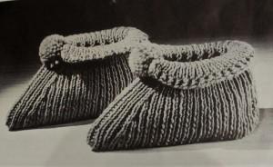 Vintage Slipper Pattern #3