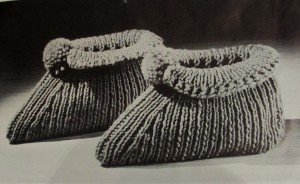 Vintage Slipper Pattern #3