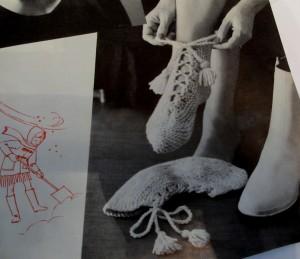 Vintage Slipper Pattern #4