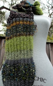 Stitches and Yarn Textured Scarf #2