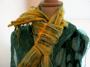 Felted Scarf and Wrap #1