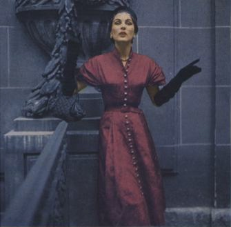 Lanvin's 1950s pattern, Vogue 1120, photographed by Richard Rutledge