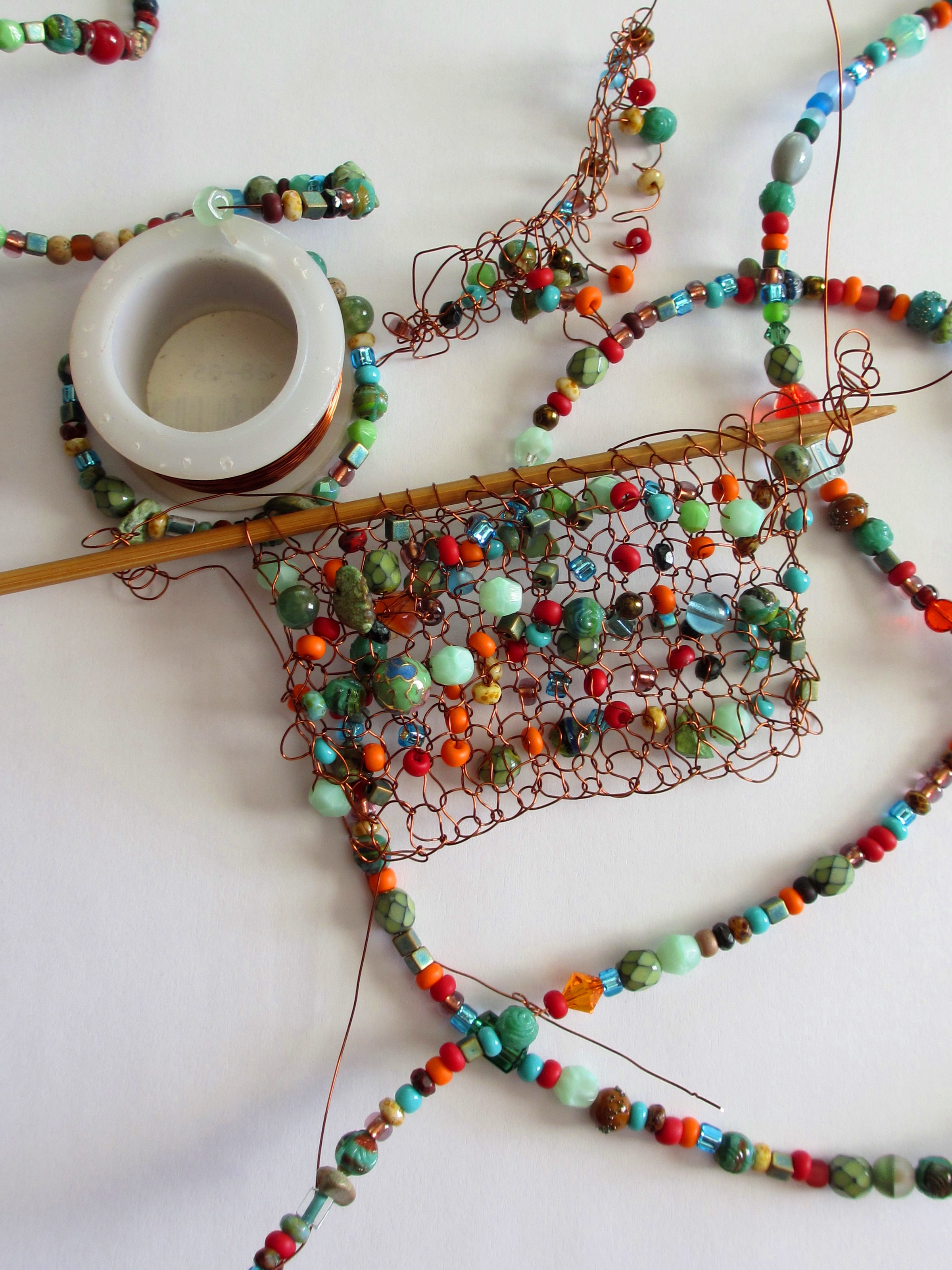 Knitting With Wire And Beads : Wire and beads sticks a gogo
