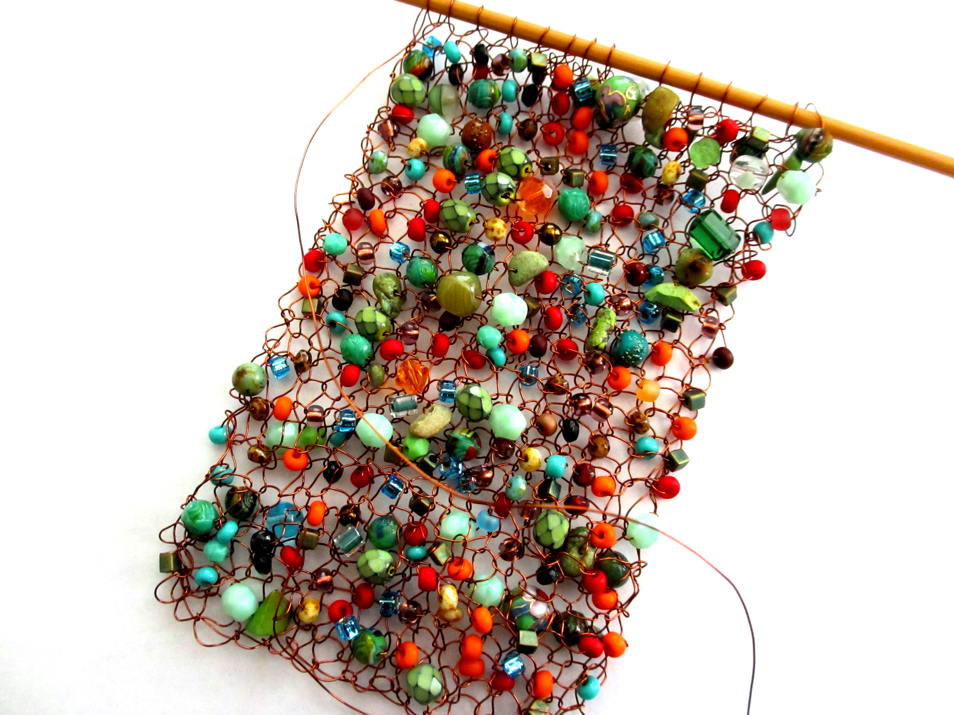 Knitting With Wire And Beads Patterns : Wire and beads sticks a gogo