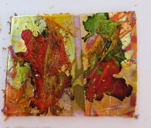 Metal Leaf and Alcholic Dyes