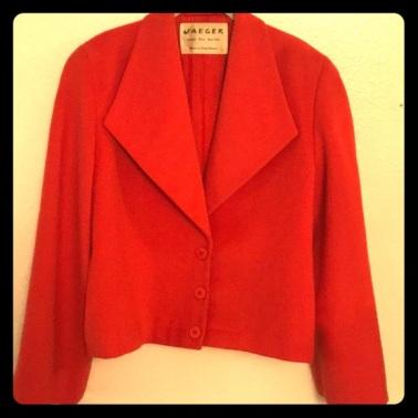 vintage organge jaeger jacket